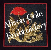 Alison Cole Goldwork and Stumpwork embroidery patterns