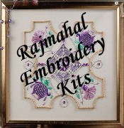 Rajmahal Embroidery Kits, Art Silk threads