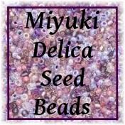 Miyuki Delica seed beads, 11/0 glass seed beads